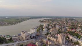 Danube aerial view stock video