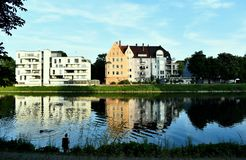 Danube, Allemagne, Chambres Photographie stock