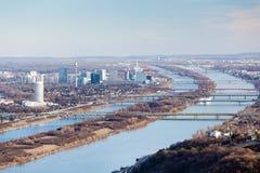 danube błękitny rzeka Vienna fotografia royalty free