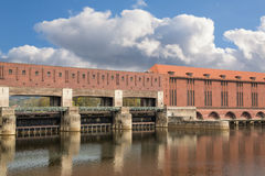 Danube barrage Stock Image