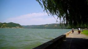 Danube bay stock video