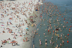 Danube Beach-sunbathing And Swimming Stock Photography