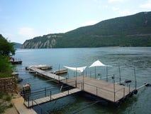 Danube blisko żelaza bram tama Obraz Royalty Free