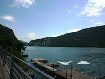 Danube blisko żelaza bram tama Fotografia Stock