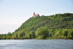 Danube with Bogenberg, Bavaria Stock Images