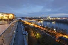 Danube in Bratislava. Stock Images