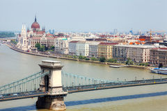 Danube and Bridge Stock Images