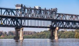 Danube Bridge known as the Friendship Bridge Stock Photos