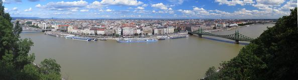 Danube in Budapest - the capital of Hungary Royalty Free Stock Photo