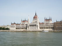 The Danube and Budapest Parliament royalty free stock photos