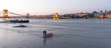 Danube in Budapest Stock Images