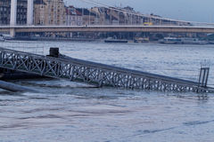 Danube in Budapest. Photo of flooding of the Danube in Budapest Stock Image