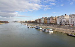 Danube and Budapest view, Hungary Royalty Free Stock Photography