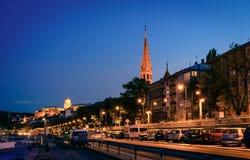 Danube bulwar w Budapest Zdjęcie Stock