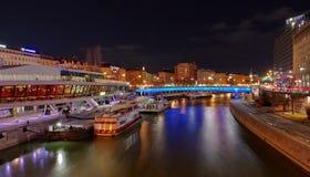 Danube Canal, at night Royalty Free Stock Photos