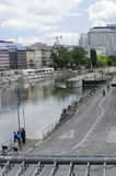 Danube Canal of Vienna Stock Image