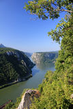 Danube canyon 2. Danube canyon between Serbia and Romania Stock Images
