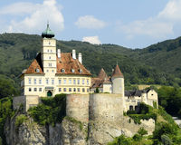 Danube Castle. An image of Schloss Schonbuhel a castle built in the 12th century, 130 feet above the Danube, in the Wachau Valley, Austria Stock Image