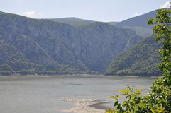 Danube at Cazane Gorge in Romania stock image
