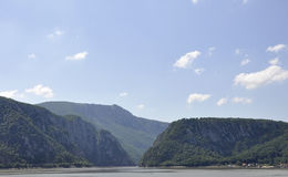 Danube at Cazane Gorge in Romania stock photography