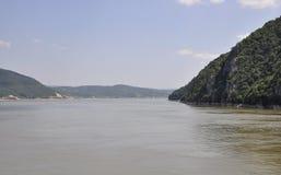 Danube at Cazane Gorge in Romania Stock Photography
