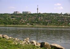 Danube chez Turtucaia (Bulgarie) Photographie stock libre de droits