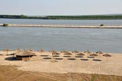 Danube coast beach Stock Photo