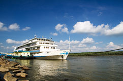 Danube cruise ship stock image