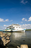 Danube cruise ship Royalty Free Stock Images
