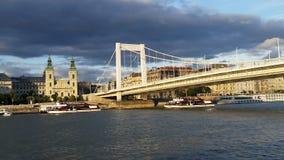 Danube Cruise Ship Budapest Stock Photo