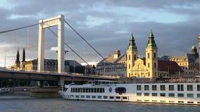 Danube Cruise Ship Budapest Stock Image