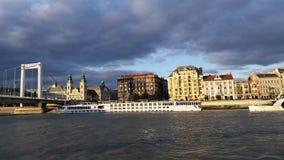 Danube Cruise Ship Budapest Stock Photography