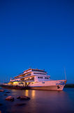 Danube cruise ship Royalty Free Stock Photos