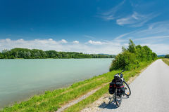 Danube cycle path / trail / route Stock Photos