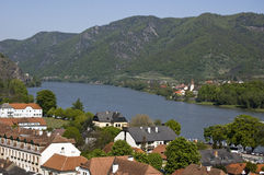 Danube dal i Österrike Royaltyfria Bilder