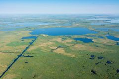 Danube delta aerial view over unique nature royalty free stock image