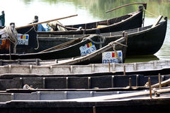 Danube Delta fishermen boats Stock Photography
