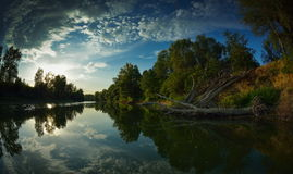 Danube delta landscape Royalty Free Stock Photo