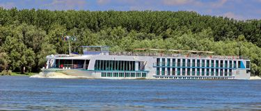 Cruise boat. Danube Delta one day cruise boat stock photography