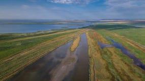 Danube Delta, Romania. Aerial view of Danube Delta, Romania, Europe royalty free stock photography