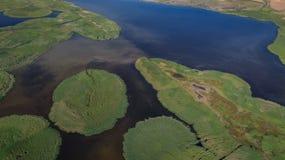 Danube Delta, Romania. Aerial view of Danube Delta, Romania, Europe royalty free stock images