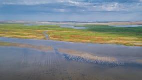 Danube Delta, Romania. Aerial view of Danube Delta, Romania, Europe royalty free stock photo