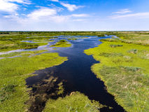 Danube Delta Romania. Also known as Delta Dunarii in Romania, the second largest delta after the Volga Delta in Europe royalty free stock images