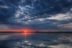 Danube Delta, Romania. Sunrise in the Danube Delta, Romania, Europe stock images