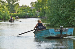 Danube delta - Vilkovo city on water Royalty Free Stock Photo