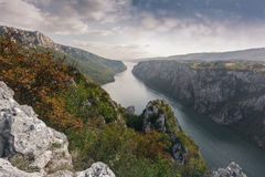 Danube in Djerdap National park, Serbia Stock Photo