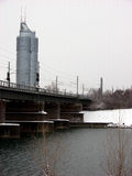 Danube Donau bridge in Vienna,Austria Royalty Free Stock Photos