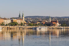 Danube embankment_the Church of St Anne_St Francis Church in Bud Royalty Free Stock Images