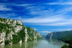 danube flod Arkivbild