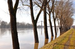 Danube flood Royalty Free Stock Image